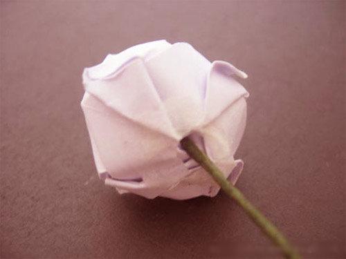 玫瑰花手工贴画制作的步骤